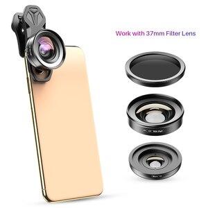 Image 5 - APEXEL 2in1 HD kamera telefon Lens kiti 120 derece 4K geniş açı lens + 10X makro lens iPhone 11 Samsung xiaomi tüm akıllı telefon