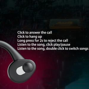 Image 5 - 뼈 전도 이어폰 블루투스 5.0 무선 헤드폰 야외 스포츠 헤드셋 마이크 핸즈프리 헤드셋