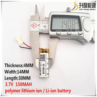 5pcs [SD] 3.7V,150mAH,[401430] Polymer lithium ion / Li-ion battery for TOY,POWER BANK,GPS,mp3,mp4,cell phone,speaker