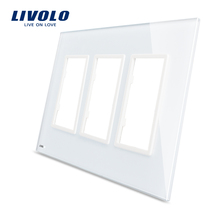 Livolo US standard Luxury Glass,125mm,White Glass Panel ,not the switch,all panel for socket switches,No Switch Function!