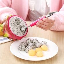 2 в 1 ложка-шарик для мороженого DIY ассортимент шарика для фруктов Большая Ложка инструменты для карвинга нож для резки фруктов