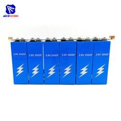 Diymore супер фарадный конденсатор с алюминиевой крышкой, 6 шт./компл. 16,8 V 500F супер конденсатор с алюминиевой крышкой с защитой доска однорядные...