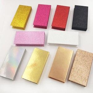 Image 2 - 40 stücke großhandel falsche wimpern verpackung box individuelles logo gefälschte 3d nerz wimpern boxen faux cils streifen diamant magnetische fall leere