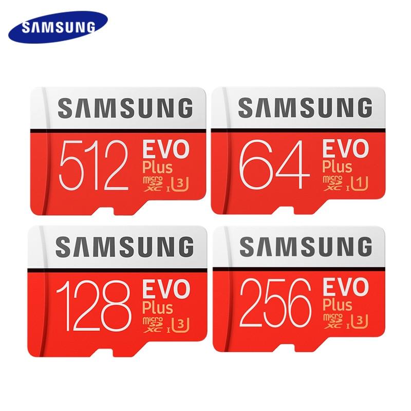Nouvelle carte mémoire Flash SAMSUNG 512GB U3 carte Micro SD 256GB UHS carte TF cartes SDHC SDXC carte 128GB 64GB C10 U1 U3