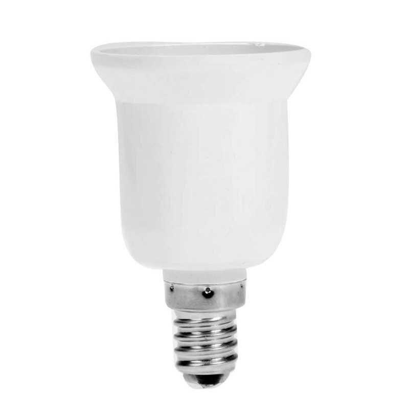 Conversores e14 para e27 led halogênio cfl lâmpada de luz adaptador à prova de fogo soquete plug extensor parafuso base casa lâmpada suporte