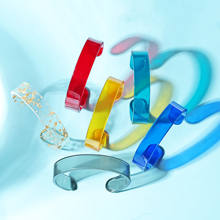 Acetate Plate Translucent Bangles for Women Urban Fashion Bangle Classic Vintage Jewelry Designer Bracelets Luxury