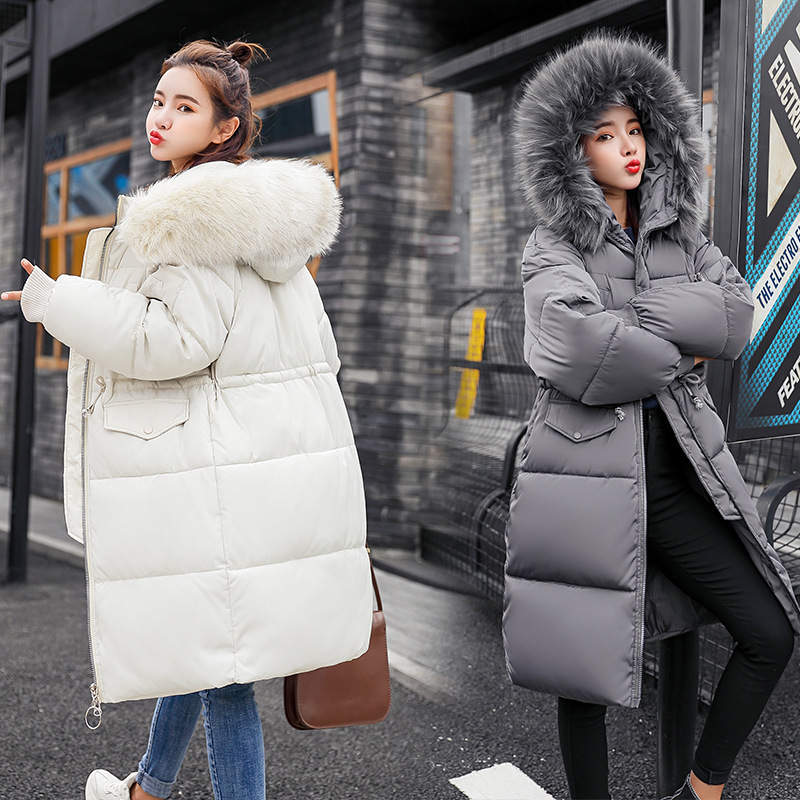 Down   parka   women's winter 2019 thicker winter clothes new large-size Korean version feather down jacket 835