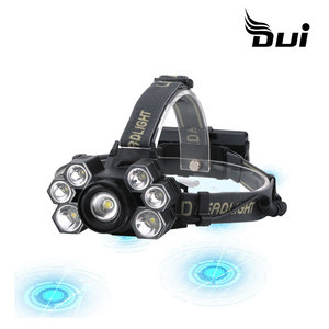 DUI New 7LED T6+XPE powerful USB rechargeable led fishing headlamp(China)