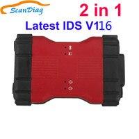 Mais novo ids v116 vcm2 vcm ii 2 em 1 ferramenta de diagnóstico para ford ids v116 e para mazda ids v1116