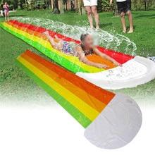 Giant Water Slide Children Lawn Slides Pool Summer Outdoor PVC Games Center Backyard Lawn Water Game Slide Sprinkler Toy For Kid