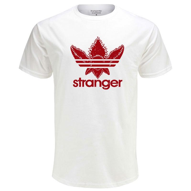 New Street Brand Stranger Things O-Neck Cotton T Shirt Men Funny Strange Demogorgon Summer T-shirt Cotton Tops Tees T206