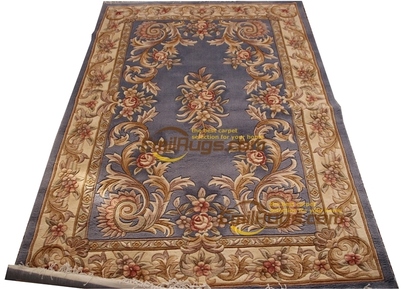 Russian Carpet Magnificent Hand Made  Wool Silk Rug Decorative Embroidered Square Carpet The Plant Design