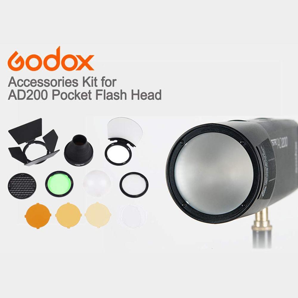 Набор аксессуаров Godox с круглой магнитной вспышкой AK R1, набор аксессуаров Godox для мини фотографии, запасные части для Godox H200R V1