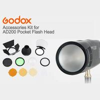 Godox Magnetic Round Head Flash AK R1 Accessory Set Kit Godox AK R1 Kit Mini Photography Replacement Parts For Godox H200R V1