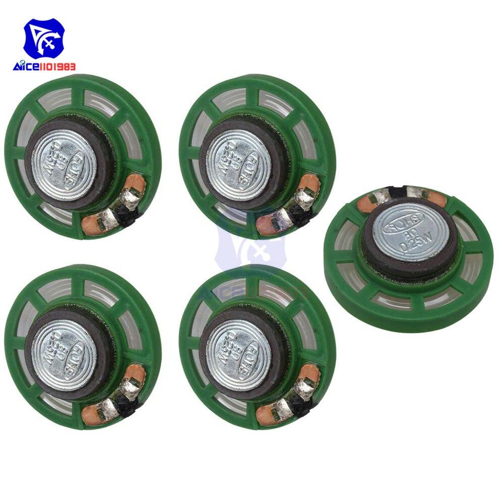 Diymore 5PCS/Lot 0.25W 8 Ohm Audio Speaker Diameter 29mm Loudspeaker For Electronic