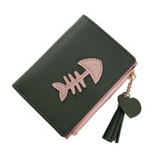 2019 Newly  Fashion Women Wallet PU Leather Multi-card Hand Holding Purse Tassel Zipper Fishbone Credit Card Holder C55
