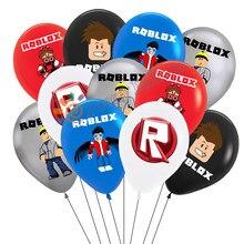 Roblo balão robbx vídeo game balão suprimentos de festa de aniversário do bebê decorações