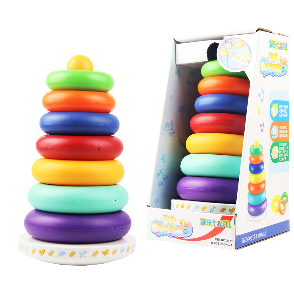 Sunny Yang Light Music Colorful 2101 Rainbow Tower Tumbler Stack-up Ring Lap Coil