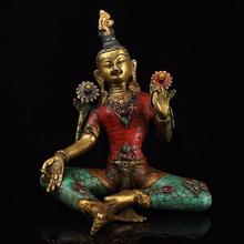 Top Collection Green Tara Bodhisattva Statue Sculpture Home Decoration In Premium Copper 10.24Inch Collectible Buddhist Figurine top margo collection top