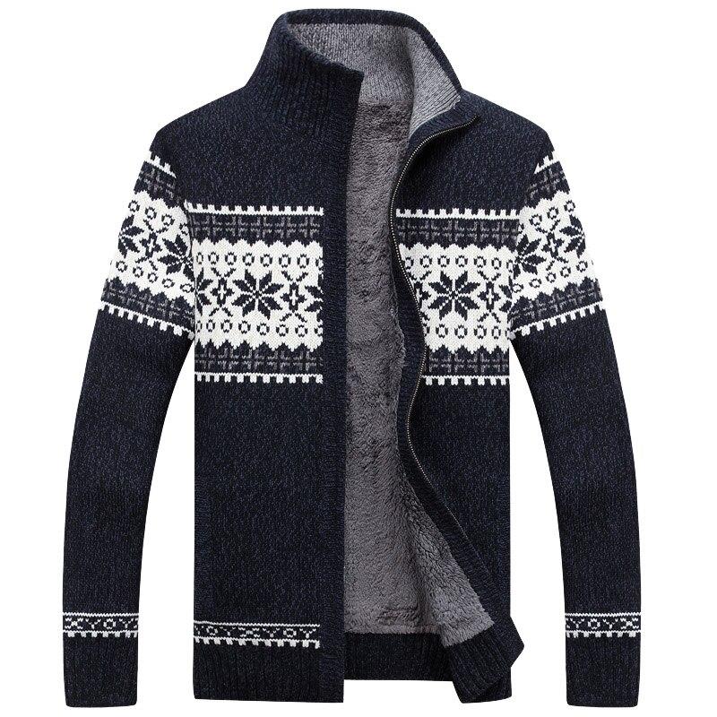 Camisola masculina com zíper grosso 2020 novo inverno gola masculina mais veludo camisola térmica meninos adolescentes casaco cardigan de malha m42