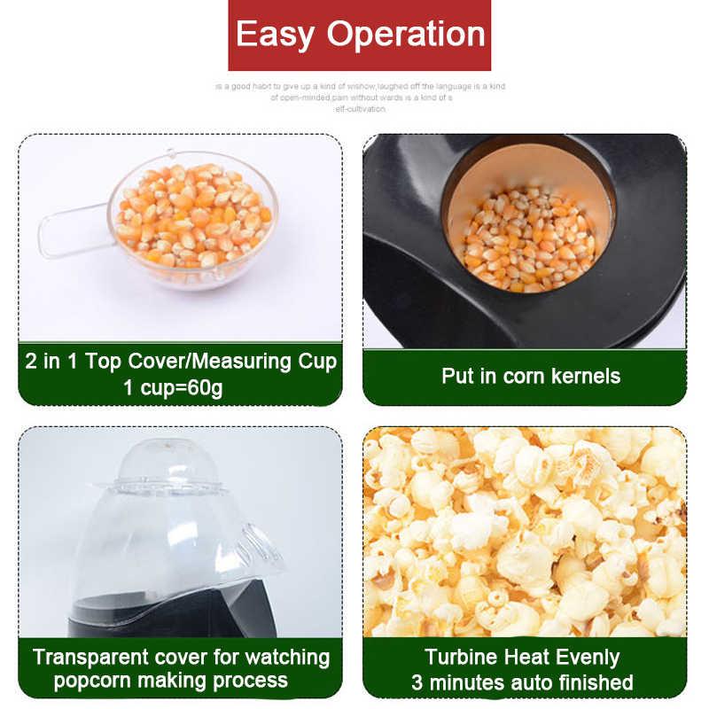 ครัวเรือนPopcorn Popper Makerเครื่องHot Air Popcornไมโครเวฟวัดถ้วยส่วนPoppingข้าวโพดเมล็ด