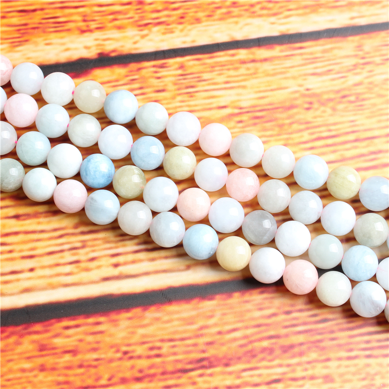 Morgan Stone Natural Stone Bead Round Loose Spaced Beads 15 Inch Strand 4/6/8 / 10mm For Jewelry Making DIY Bracelet Necklace