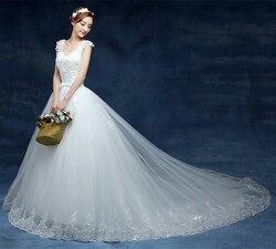 Nieuwe Stijl V-hals 2020 Luxe Prinses Lange Trein Borduren Plus Size Bridal Gown Trouwjurken Vestidos De Noiva Robe De t18