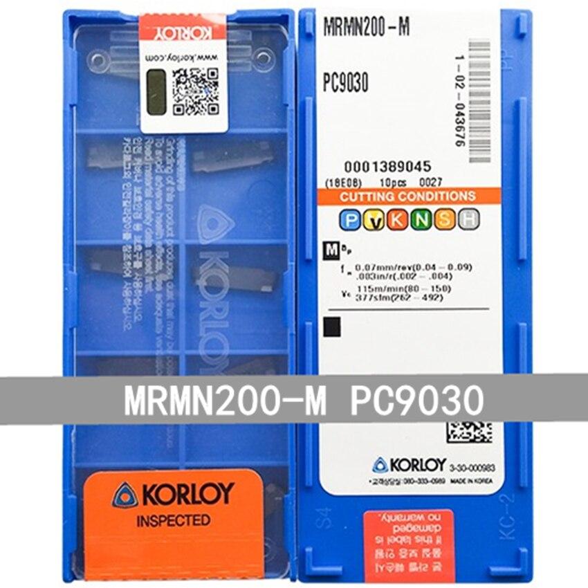 10Pcs Korloy MRMN500-M PC9030 Carbide Inserts
