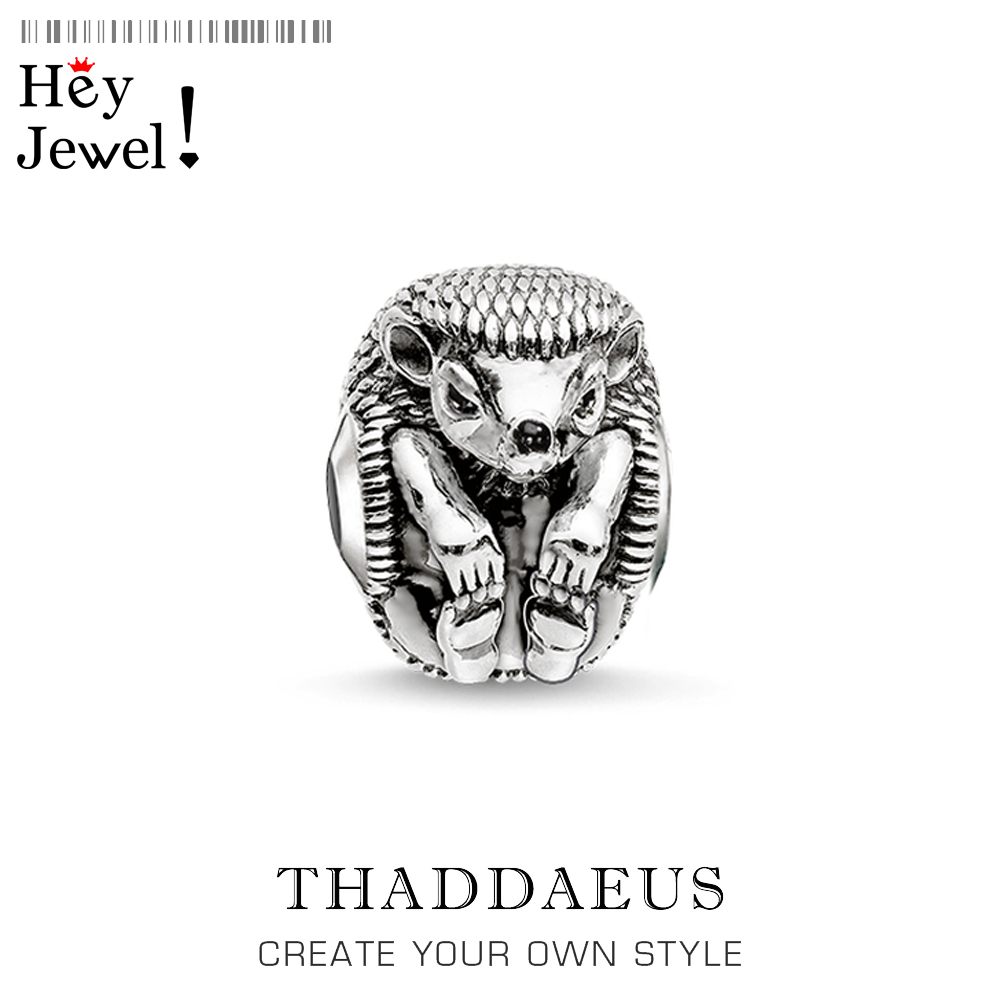 Beads Hedgehog, Silver Gift Fits Bracelet Thomas Necklace European DIY Bijoux Jewelry Accessorie Gift For Women