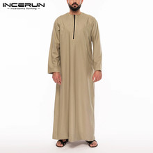 Jubba Thobe Robes Kaftan Saudi Arabic Islamic Men Muslim Dubai Arabia-Middle-East Incerun Men