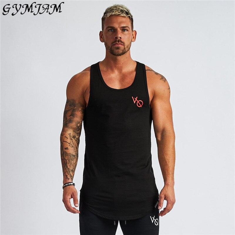 Summer Hot Cotton Fashion Men's Vest Jogger Casual Streetwear Brand Men's Clothing Fashion Men's Fitness Vest