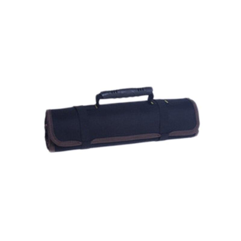 Многофункциональные сумки для инструментов, практичные ручки для переноски, Оксфордский холст, долото, рулон, сумки для инструментов, 3 цвета, чехол для инструментов - Цвет: Black