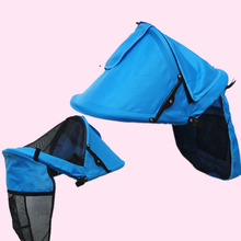 With Bag Baby Stroller Sunshades Accessories Canopy Oxford Front Hatching Cover Windproof Foldable Blackout Blind Adjustable