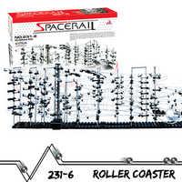 6000cm Rail niveau 6 marbre course labyrinthe montagnes russes ascenseur électrique modèle bâtiment garçon tige apprentissage jouet roulement balle Sculpture
