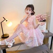 цены европейская сарафан платья для девушек нарядное девочкирозовое платье принцессы Vestidos De Fiesta Cinderella Christmas Dress