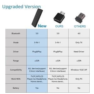 Image 5 - 블루투스 5.0 송신기 수신기 3 in 1 edr 오디오 무선 어댑터 dongle mini 3.5mm aux for tv pc 자동차 블루투스 스테레오 hifi