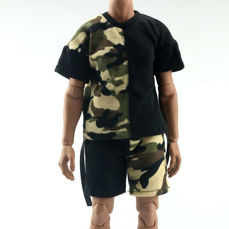 <font><b>1/6</b></font> <font><b>Scale</b></font> <font><b>Male</b></font> youth Variety Casual sportswear FA009 Wei <font><b>clothes</b></font> Shorts Camouflage stitching Clothing F12