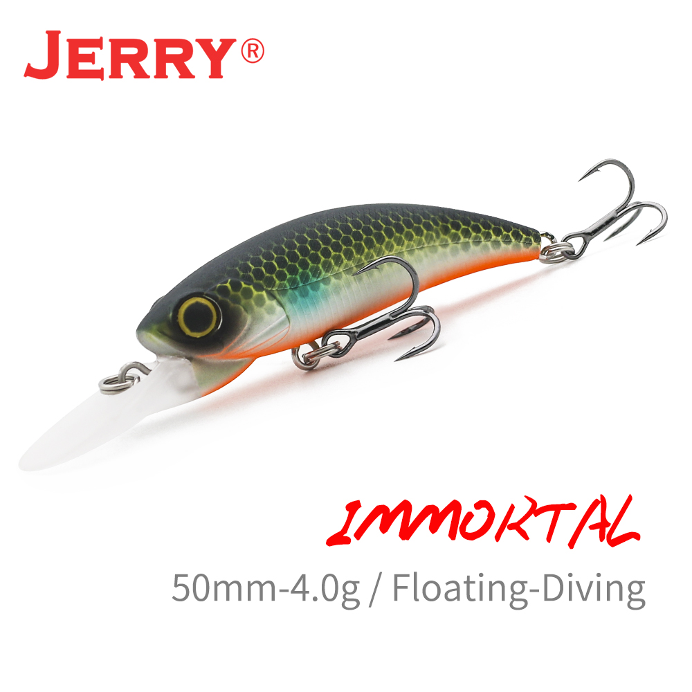 Jerry Immortal UL Crankbait Floating Wobblers Fishing Lure Pike Bass Deep Diving Hard Bait 5cm2in 4g Shore Lake Pesca UV Color