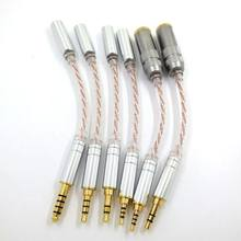 Cabo de áudio do equilíbrio de alta fidelidade macho 2.5mm a 3.5mm 4.4mm fêmea fone ouvido adaptador linha cabo conversão