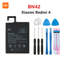 Xiao mi 100% Orginal BN42 4100mAh Battery For Xiaomi Hongmi Redmi 4 BN42 High Quality Phone Replacement Batteries +Tools недорого