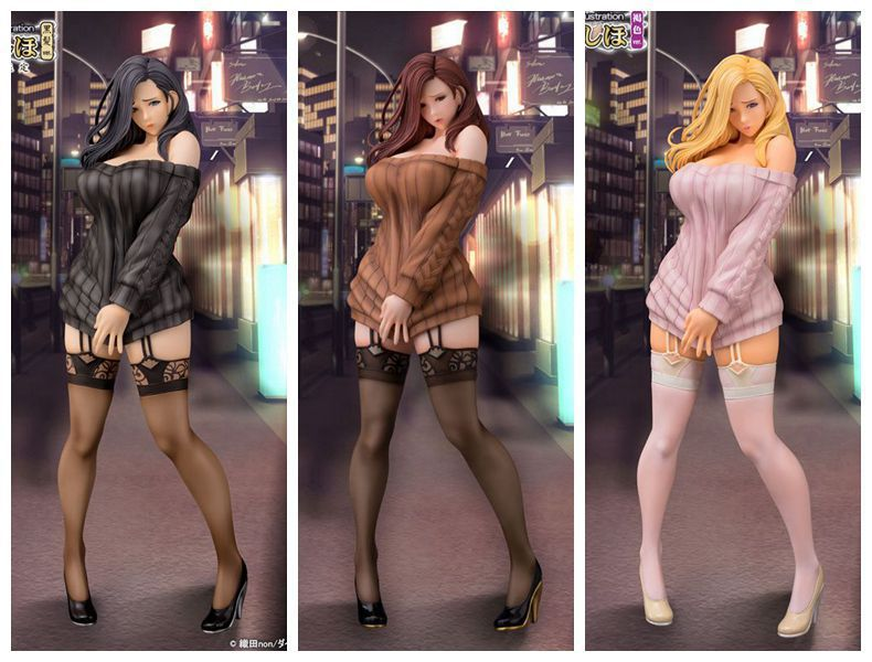 Anime <font><b>Sex</b></font> Girls Figure Daiki Kogyo Oda Non Illustration Shiho Kujo PVC Action Figure Collectible Model Adult Toys <font><b>Doll</b></font> with Box image