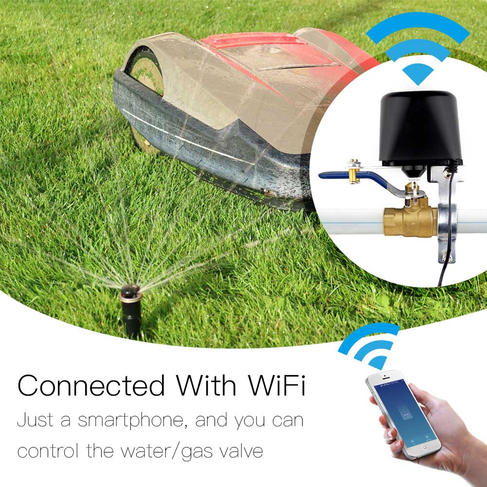 Smart Lawn Water Valve Wifi Home Automation System Valve Control For Gas Or Water Voice Control Work With Alexa Echo Google Home