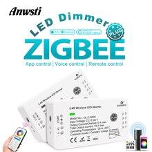 Gledopto Zigbee Dimmer 12V 24V DC Smart LED Strip Controller Compatible with Zigbee Hub APP Voice Remote Control Alexa Amazon