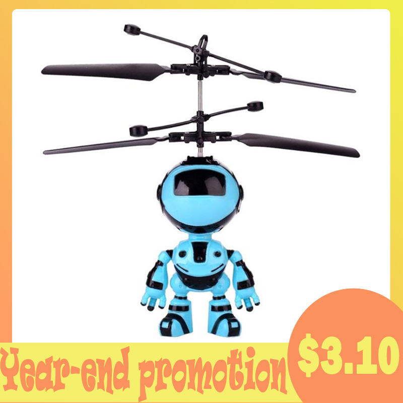 RC Hand Inductive Flying Robot Aircraft Infrared Induction Kids Light Toys Flying Toy
