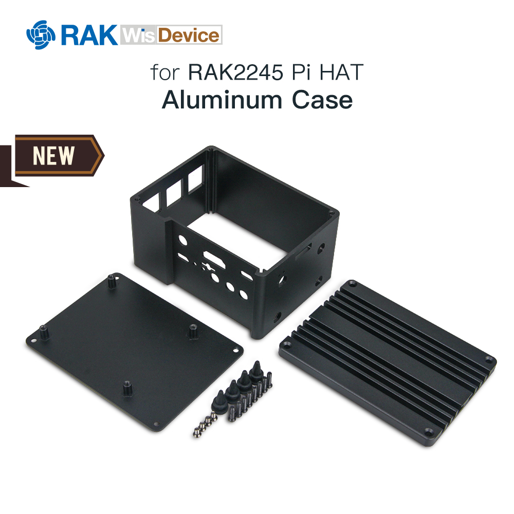 Gateway Aluminium Case Cooler Radiator Heat Sinks For RAK2245 LoRa Concentrator Module & Raspberry Pi With Full Input/Output 069