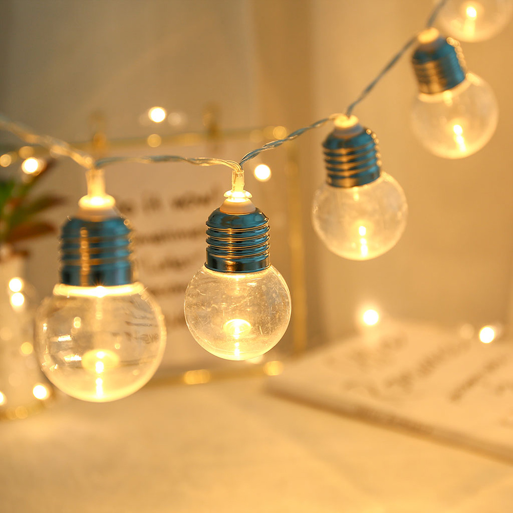 5FT G45 Globe Bulb Outdoor Waterproof LED String Light With 10 Clear Bulb Vintage Indoor Patio Lights Garland Wedding Decor D40