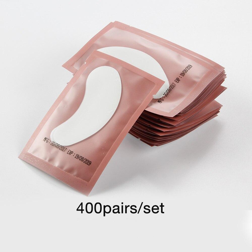 200/400 пар накладных ресниц, бумажные накладки, накладки под ресницы, принадлежности для наращивания ресниц, инструменты для макияжа, наклейки - Цвет: 400pairs Pink