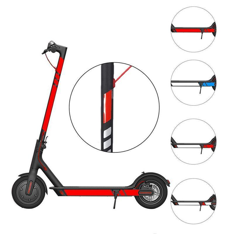 For Xiaomi Mijia M365 Electric Scooter Styling Set Reflective Stickers PVC M8T0