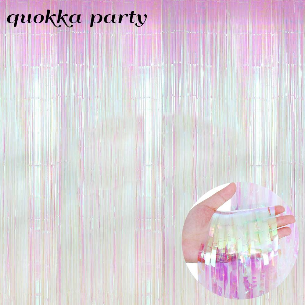 Фон для свадебной фотосъемки с изображением дождя, Занавески Из мишуры, занавески из фольги для дня рождения, свадебные украшения для девоч...