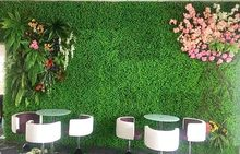 40x60cm Wedding Decoration Grass Mat Green Artificial Plant Lawns Landscape Carpet for Home Garden Wall Decoration Fake Grass(China)